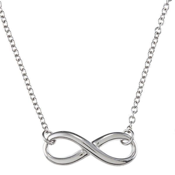 La Preciosa Sterling Silver Infinity 18-inch Necklace