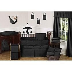 Sweet Jojo Designs Minky Dot 9-piece Crib Bedding Set in Black