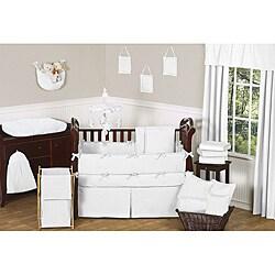 Sweet Jojo Designs Minky Dot 9-piece Crib Bedding Set in White