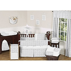 Sweet JoJo Designs Diamond 9-piece Crib Bedding Set in Grey