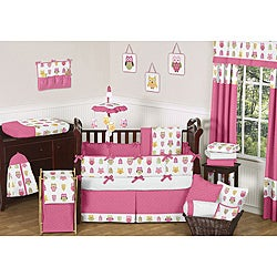 Sweet Jojo Designs Happy Owl 9-piece Crib Bedding Set