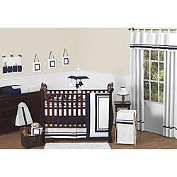 Sweet Jojo Designs Hotel 9-piece Crib Bedding Set in Navy|https://ak1.ostkcdn.com/images/products/6698270/Sweet-Jojo-Designs-Hotel-9-piece-Crib-Bedding-Set-in-Navy-P14251115.jpg?impolicy=medium