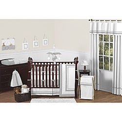 Sweet Jojo Designs Hotel 9-piece Crib Bedding Set in Grey - Thumbnail 0