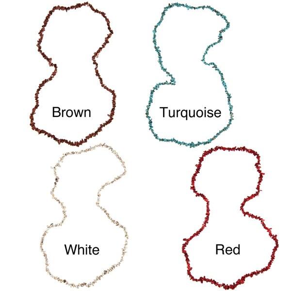 La Preciosa Colored Onyx Chip 36-inch Necklace