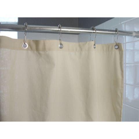 "Hemp Fabric Shower Curtains are 70"" x 74"" high -. Stall Curtains are 36"" x 74"" high or 54"" x 74"" high. Made in the USA"