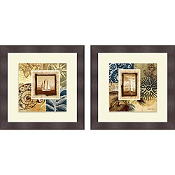 Michael Marcon 'Sailing the Seas I & II' Framed Print