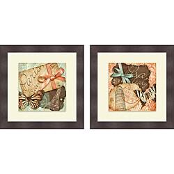 Sd Graphics Studio 'Vintage Travels I & II' Framed Print