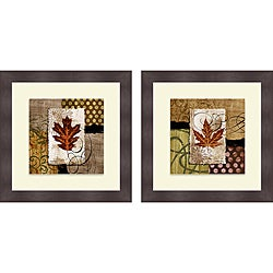 Michael Marcon 'Contemporary Leaf I & II' Framed Print