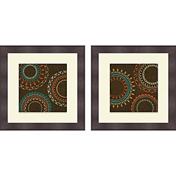 Sd Graphics Studio 'Chocolate Suzani I & II' Framed Print
