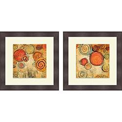 Gina Ritter 'Spring Forward Square I & II' Framed Print