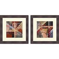 Michael Marcon 'Red Phrantic I & II' Framed Print