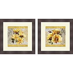 Elizabeth Medley 'Grey Gardens I & II' Framed Print
