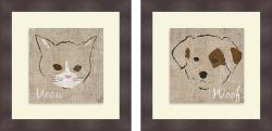 Sd Graphics Studio 'Kitten & Puppy' Framed Print