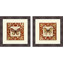 Patricia Pinto 'Moroccan Butterfly I & II' Framed Print