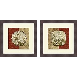 Elizabeth Medley 'Tuscan Glimpse I & II' Framed Print