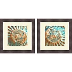 Jairo Rodriguez 'Nautique I & II' Framed Print