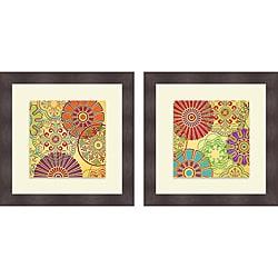 Sd Graphics Studio 'Lemon Twist I & II' Framed Print