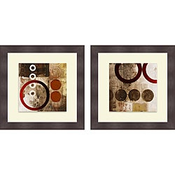 Michael Marcon 'Red Liberate Square I & II' Framed Print