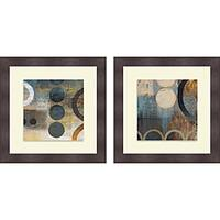 Michael Marcon 'Blue Liberate Square I & II' Framed Print