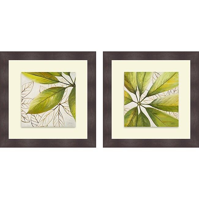 Shop Patricia Pinto \'Fresh Leaves I & II\' Framed Print - On Sale ...