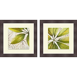 Patricia Pinto 'Fresh Leaves I & II' Framed Print