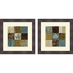 Michael Marcon 'Playful I & II' Framed Print