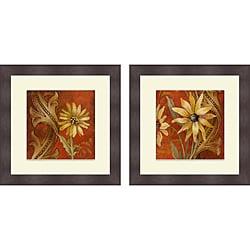 Lanie Loreth 'Honeyed Square I & II' Framed Print