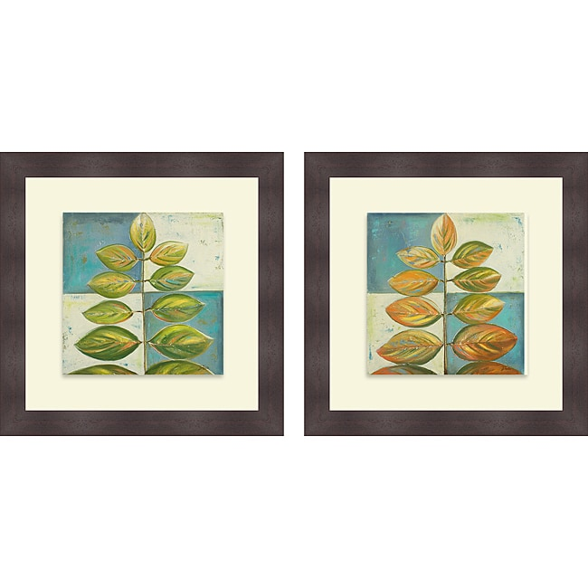 Patricia Pinto 'The Green Compliment I & II' Framed Print