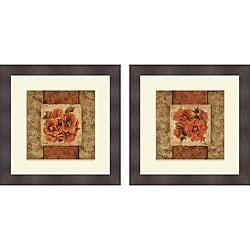 Elizabeth Medley 'Spice Flower I & II' Framed Print