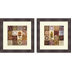 Michael Marcon 'Contemporary Autumn I & II' Framed Print