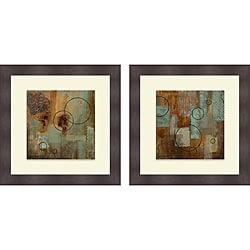 Michael Marcon 'Rain I & II' Framed Print