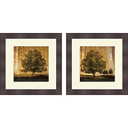 Patricia Pinto 'Aged Tree I & II' Framed Print