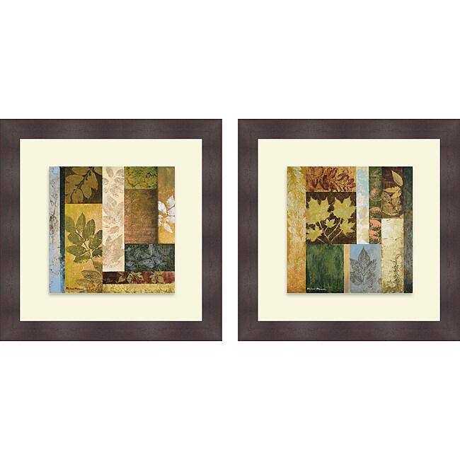Michael Marcon 'August Leaves I & II' Framed Print