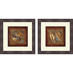 Lanie Loreth 'Rustic Leaf Square I & II' Framed Print