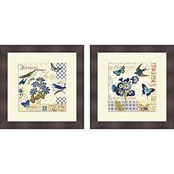 Pela 'Blue Notes III & IV' Framed Print