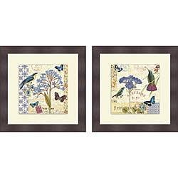 Pela 'Blue Notes I & II' Framed Print
