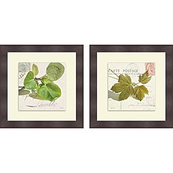 Deborah Schenck 'Maple Leaf & Apple Leaf' Framed Print