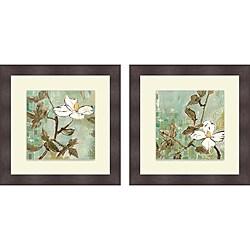 Lisa Snow Lady 'White Trellis I & III' Framed Print