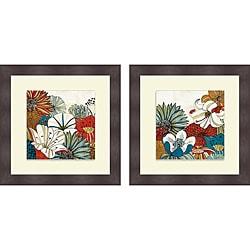 Mo Mullan 'Contemporary Garden I & II' Framed Print