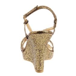 Celeste Women's Marisa-02 Jeweled Glitter Studded Platform Wedge (Size 10)