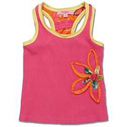 Beetlejuice London Girls' Pink/ Yellow Skirt Set - Thumbnail 1