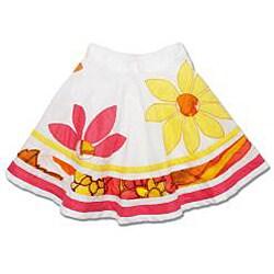 Beetlejuice London Girls' Pink/ Yellow Skirt Set - Thumbnail 2