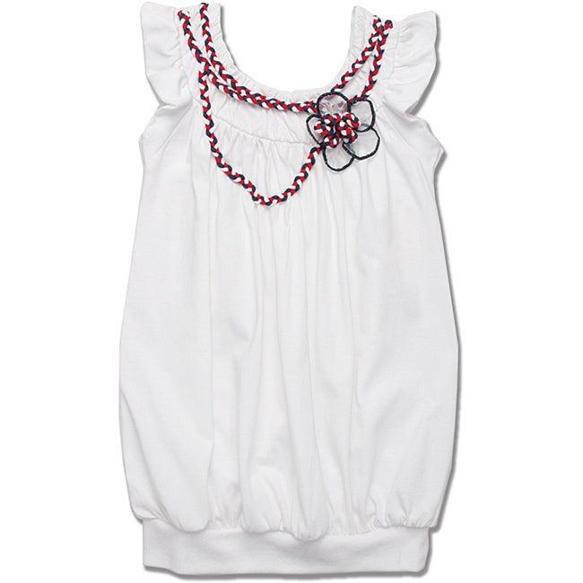 Beetlejuice London Girls' Ruffle Sleeve Bubble Hem Dress