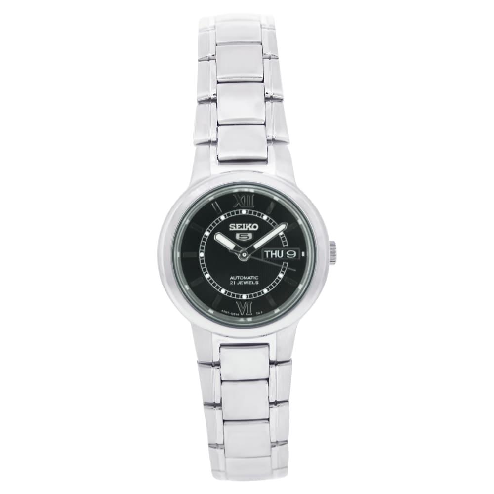 Seiko Women's Seiko 5 Watch with Black Dial
