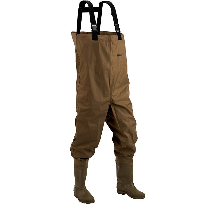 Hodgman mackenzie brown 100 percent nylon pvc booted chest for Walmart fishing waders