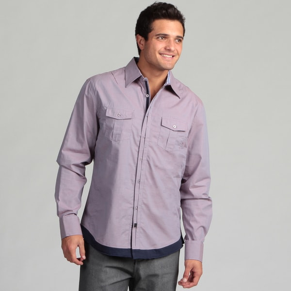 Dragonfly Men's Red Two-pocket Shirt