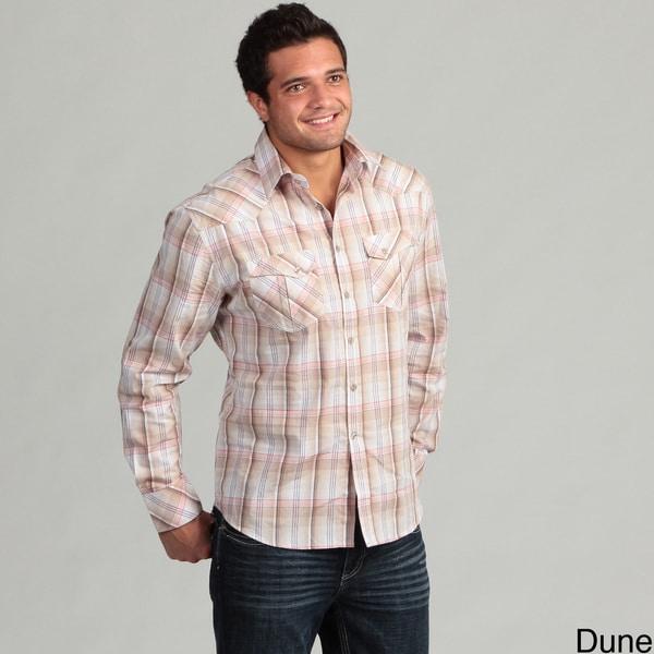Dragonfly Men's Plaid Woven Shirt