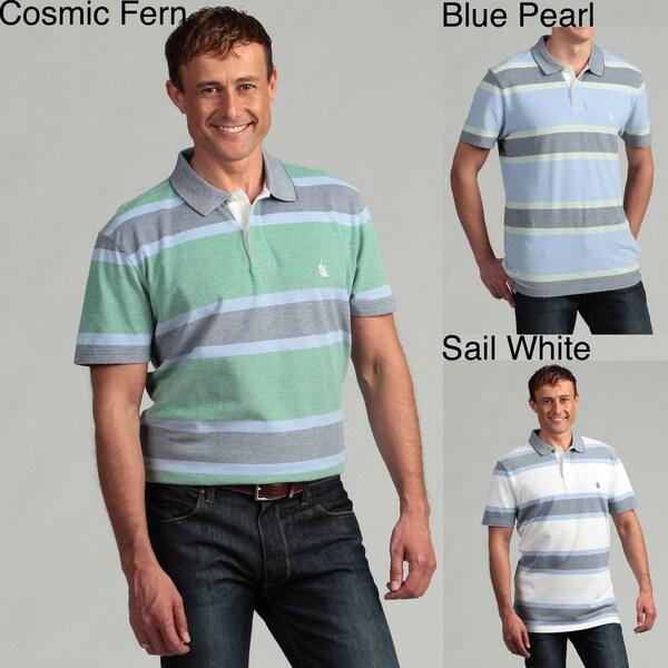 Nautica Men's Oxford Striped Polo Shirt