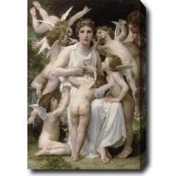 William-Adolphe Bouguereau 'The Assault' Hand-painted Oil on Canvas