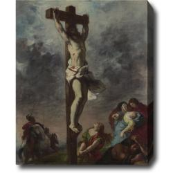 Eugene Delacroix 'Christ on the Cross' Hand-painted Oil on Canvas